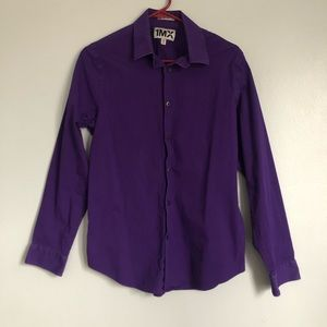 Men's Purple Express Button Down Shirt